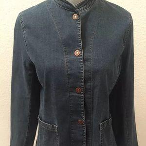 Eileen Fisher Denim Blue Jean Jacket Medium EUC !!